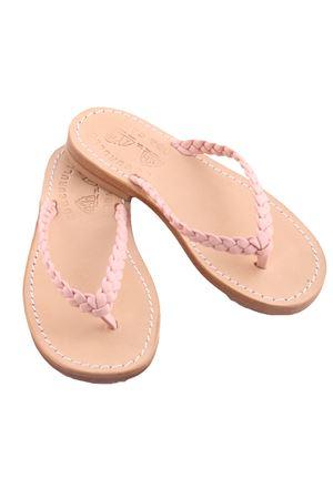 Sandali infradito da bambina in pelle rosa Cuccurullo | 5032256 | BABY WEAVEROSA