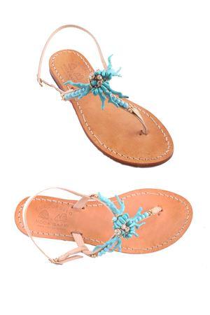 Sandali capresi realizzati a mano Cuccurullo | 5032256 | CUC CORALAZZURRO