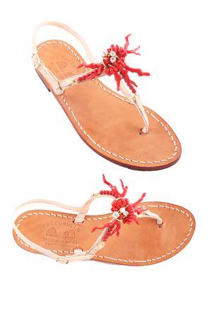 Sandali capresi realizzati a mano Cuccurullo | 5032256 | CUC CORALROSSO