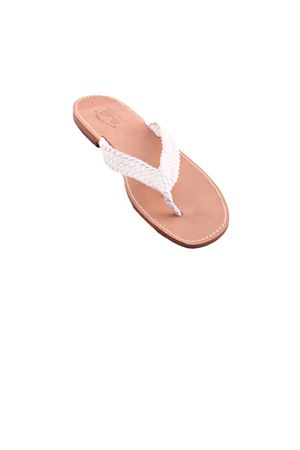 Flip flop sandals for man Cuccurullo | 5032256 | CUC INTRECCIO MENBIANCO