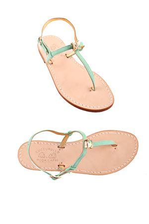 Handmade Capri sandals Cuccurullo | 5032256 | CUC IRMAVERDE