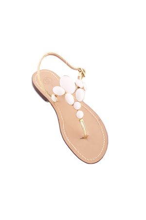 White jewel sandals vintage Capri style Da Costanzo | 5032256 | 2438BIANCO