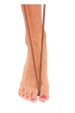 Sandali capresi artigianali con fasce in pelle intrecciata Da Costanzo | 5032256 | ANELLO TRECCIAVITELLO TERRA
