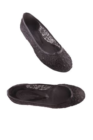 Black crafted ballerinas Da Costanzo | 5032261 | BALLERINE RETENERO