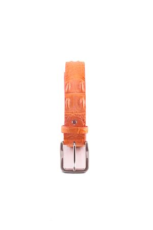 Crocodile orange leather belt Da Costanzo | 22 | CROCODILE BIGARANCIO