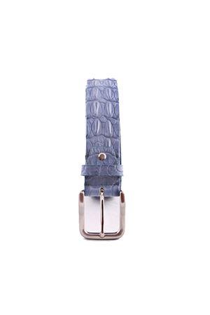 Cintura in pelle di coccodrillo azzurra Da Costanzo | 22 | CROCODILE BIGAZZURRO