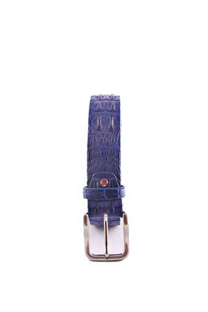Crocodile blue leather belt Da Costanzo | 22 | CROCODILE BIGBLU
