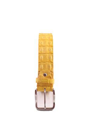 Crocodile yellow leather belt Da Costanzo | 22 | CROCODILE BIGGIALLO