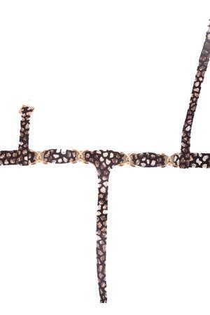 Sandali capresi infradito con ganci oro Da Costanzo   5032256   FARFALLA CAMMARRONE