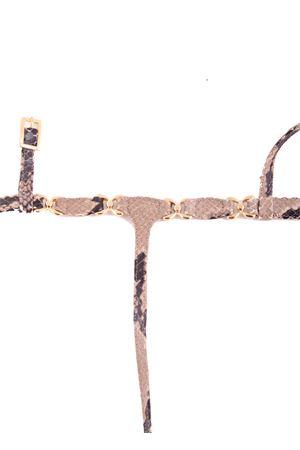 Sandali capresi infradito in pelle pitonata Da Costanzo | 5032256 | FARFALLABEIGE