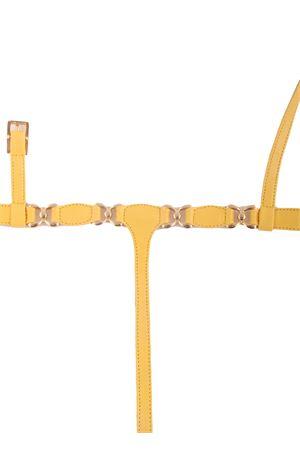 Sandali capresi artigianali gialli con ganci oro Da Costanzo | 5032256 | FARFALLAGIALLO