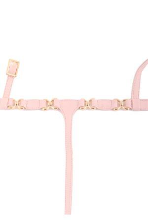 Sandali capresi in pelle rosa con ganci oro Da Costanzo | 5032256 | FARFALLAROSA