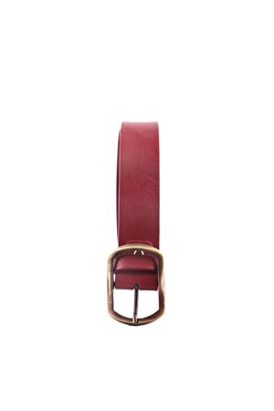 Bordeaux leather belt Da Costanzo | 22 | FIBIA ASIMMETRICAROSA