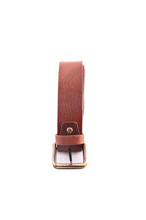 Brown leather belt Da Costanzo | 22 | FIBIA QUADRATAMARRONE