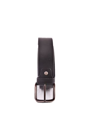 Black unisex leather belt Da Costanzo | 22 | FIBIA QUADRATANERO