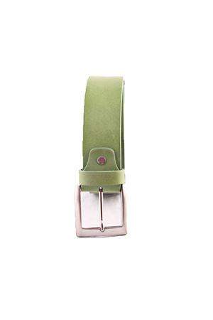 Green leather belt Da Costanzo | 22 | FIBIA QUADRATAVERDE