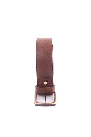Cintura in pelle marrone Da Costanzo | 22 | FIBIA SCURAMARRONE