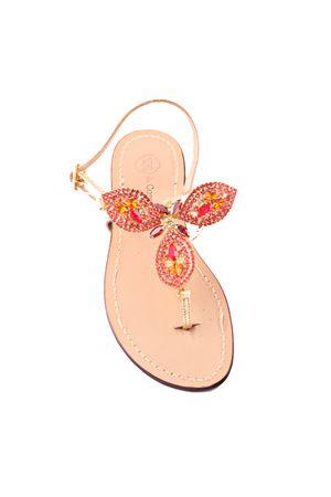 Sandali capresi gioiello rossi Da Costanzo | 5032256 | GOCCIONIROSSO