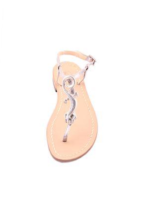 Lizard Capri sandals Da Costanzo | 5032256 | LUCERTOLAARGENTO