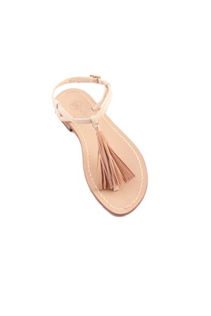 Capri sandals with decorative tassels Da Costanzo | 5032256 | NAPPINE CAMBEIGE