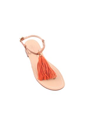 Da Costanzo Capri sandals with decorative orange tassels Da Costanzo | 5032256 | NAPPINE2CAMARANCIO