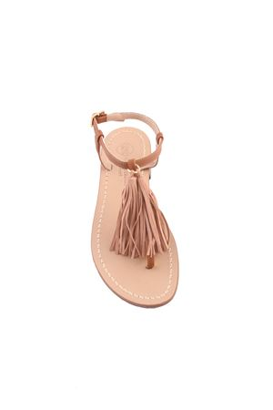 Da Costanzo Capri sandals with beige tassels Da Costanzo | 5032256 | NAPPINE2CAMBEIGE