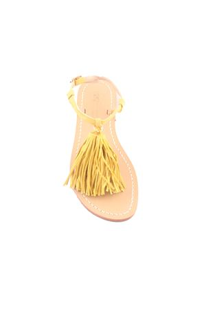 Yellow Capri sandals with decorative tassels Da Costanzo | 5032256 | NAPPINE2CAMGIALLO