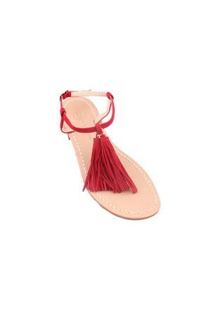 Sandali capresi rossi con nappine decorative Da Costanzo | 5032256 | NAPPINE2CAMROSSO