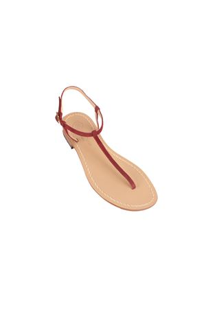 Gold handmade sandals Da Costanzo | 5032256 | S1918BORDEAU