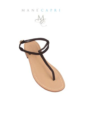 Gold handmade sandals Da Costanzo | 5032256 | S1918NERO