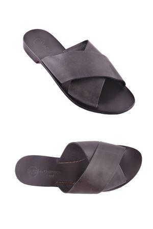 Sandalo Caprese intrecciato nero in pelle Da Costanzo | 5032256 | XV2496NERO