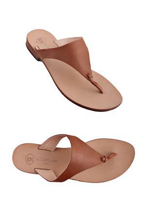 Sandalo Caprese infradito marrone in pelle Da Costanzo   5032256   XV2497MARRONE