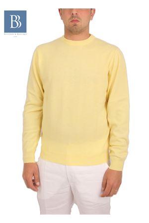 Maglia da uomo in cachemere giallo Denny | 20000031 | PARICOLLOGIALLO