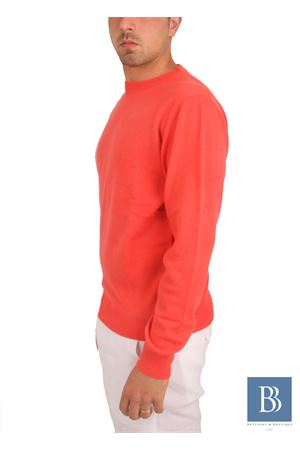 Maglia da uomo in cachemere rosso Denny | 20000031 | PARICOLLOROSSO CORAL