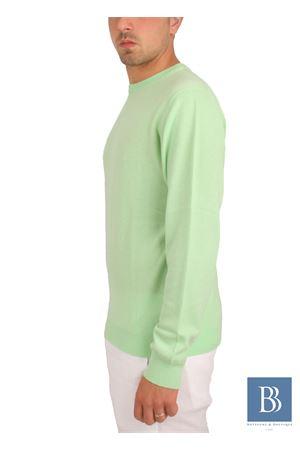 Maglia da uomo in cachemere verde Denny | 20000031 | PARICOLLOVERDE