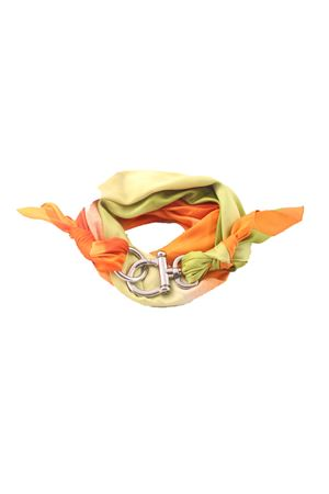 Green and orange scarf with hook Grakko Fashion | -709280361 | GR115EARANCIO