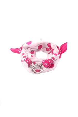 Pink and white scarf with hook closure Grakko Fashion | -709280361 | GR121EVIOLA