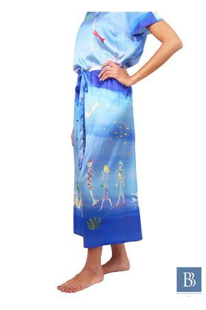 Hand-crafted pure silk trousers Laboratorio Capri | 9 | LAB 210BLU