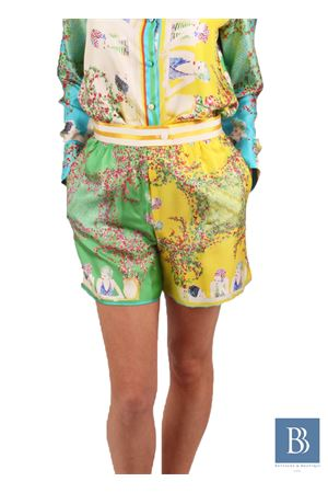 Silk short with vintage print of women 50