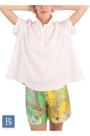 Ampia camicia in cotone a manica corta Laboratorio Capri | 6 | LAB148LILLY WHITE