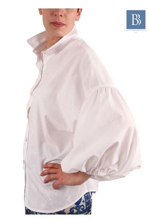 Camicia in cotone con ampia manica a sbuffo Laboratorio Capri | 6 | LAB149LINDA BIANCO