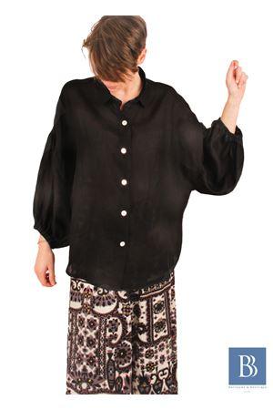 Camicia in lino con ampia manica a sbuffo Laboratorio Capri | 6 | LAB149LINDA NERO