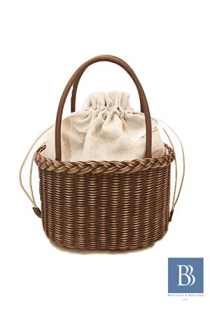 Pith handmade bag Laboratorio Capri | 31 | LAB158CESTO ROTONDO