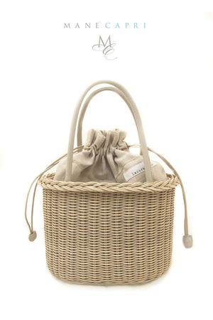Pith handmade bag Laboratorio Capri | 31 | LAB158GRIGIO E GRIGIO