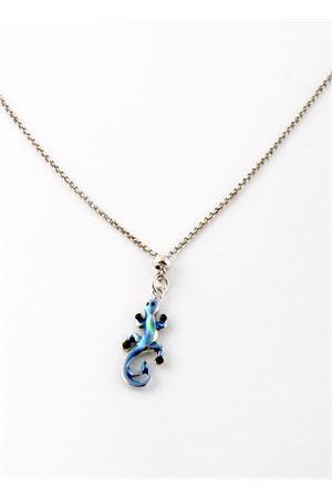 Collana in argento con lucertola azzurra Pierino Jewels | 35 | 3048AAZZURRA