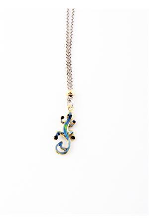 Collana in argento con lucertola azzurra Pierino Jewels | 35 | 3048ABLU