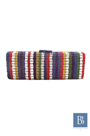 Clutch in paglia multicolor Zacarias 1925 Zacarias 1925 | 31 | CLUTCH MULTIMULTI BLU