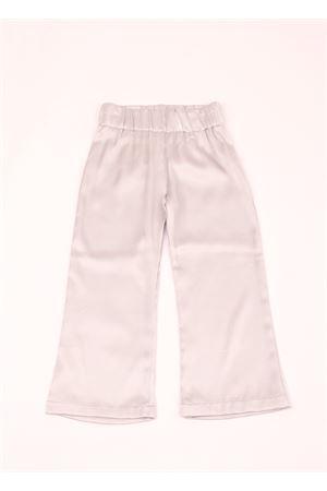 Pantalone elasticizzato in pura seta Amina Rubinacci | 9 | AR25GRIGIO PERLA