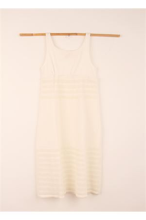 White cotton long dress with strap Amina Rubinacci | 5032262 | AR39PANNA