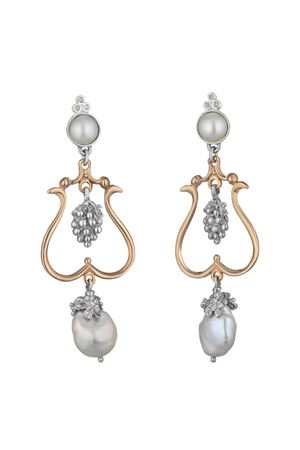 Earrings with grape Angela Puttini Gioielli | 48 | SCAP47AARGENTO DIAMANTI